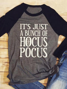 Halloween It's Just A Bunch Of Hocus Pocus Baseball T-Shirt
