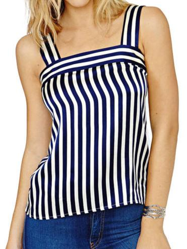 Holiday Stripe Backless Tank
