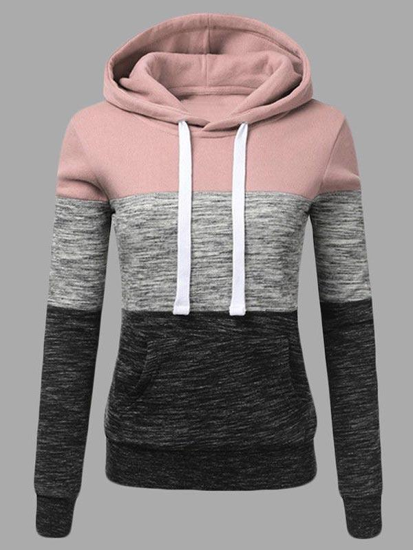 Splice Long Sleeve Hoodies