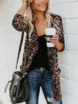 Leopard Printed Pocket Cardigan