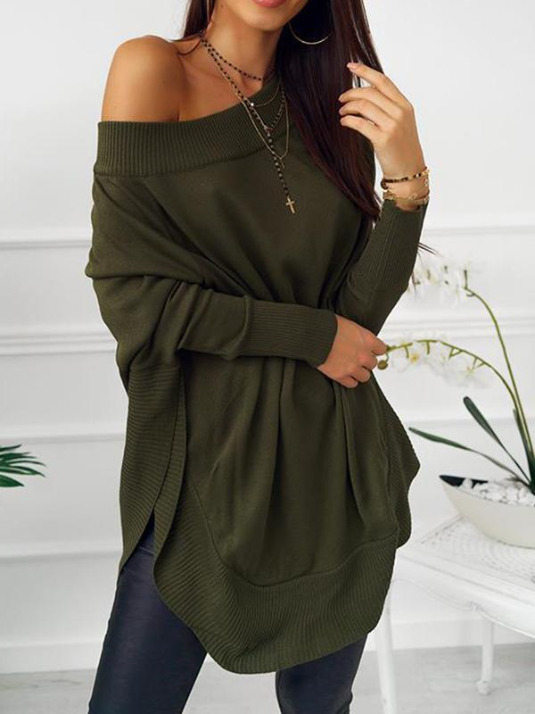 Irregular Off Shoulder Butterfly Sleeve Dress