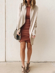 Solid Color Long Sleeve Knit Cardigan