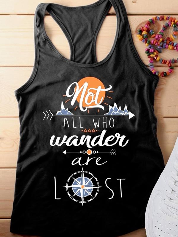 Not All Who Wander Are Lost Letter Tank-Tanks-Fechicin.com