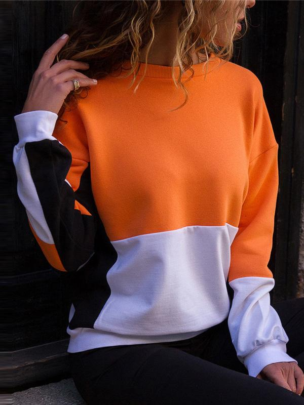 Long Sleeve Splice Sweatshirt