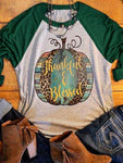 Thankful&Blessed, Baseball T-Shirt