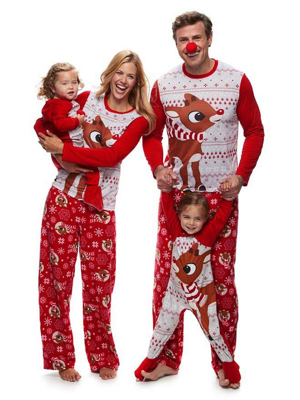 Rudolph the Red Nosed Reindeer Christmas Holiday Family Sleepwear