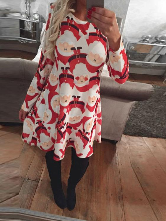 Snowflake Christmas Swing Dress