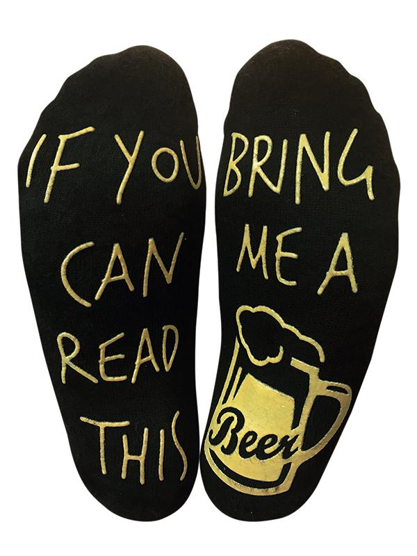 Read This Bring Me A Beer Socks