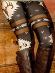 Christmas Reindeer Arrow Printed Leggings
