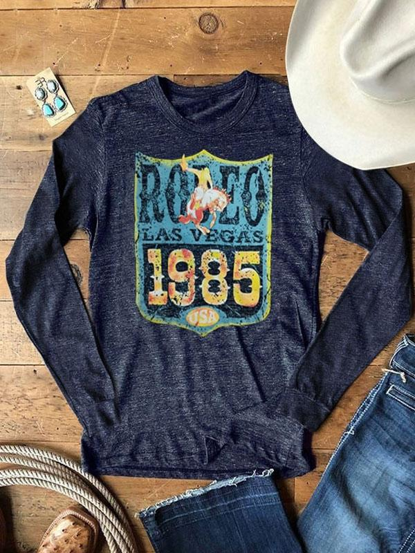 Rodeo Las Vegas 1985 USA Baseball T-Shirt