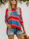 Tilly Striped Knit Dolman Top