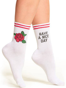 Have A Nice Day Printed Socks