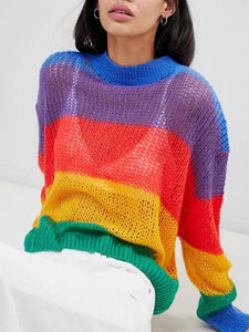 Rainbow Long Sleeve Sweater
