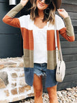 Kent Colorblock Long Cardigan