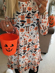 Halloween Pumpkin Ghost Dress