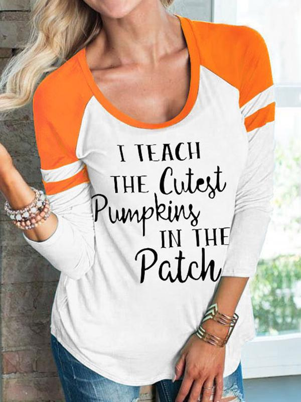 I Teach The Cutest Pumpkins Baseball T-Shirt