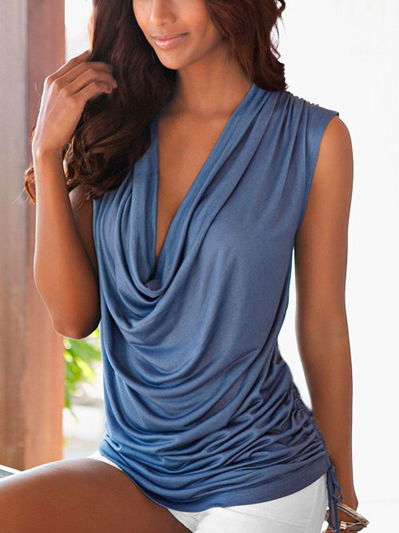 Deep V Sleeveless Sexy Tank