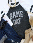 Game Day Letter Printed O-Neck T-Shirt-T-shirts-Fechicin.com