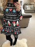 Santa Snowman Christmas Swing Dress