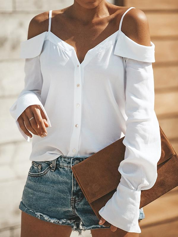 City Summer  Cold Shoulder Blouse