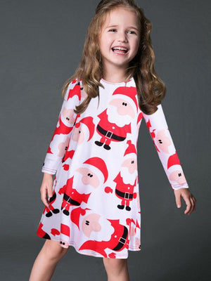 Santa Claus Mini Dress For Kids