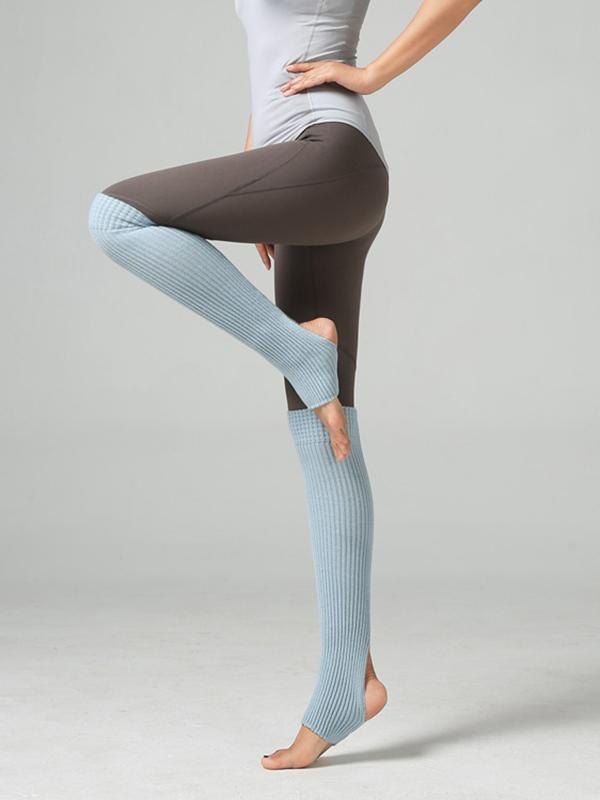 Solid Color Knee Sports Socks
