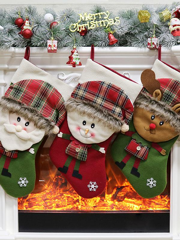 Santa Claus/Snowman/Reindeer Christmas Decorations Gift Bag