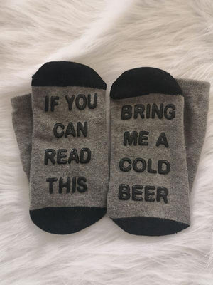 Read This Bring Me A Cold Beer Socks