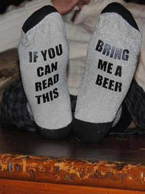If You Can Read This Bring Me Wine or Beer Socks