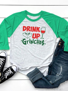 Drink Up Grinches Baseball T-Shirt