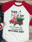 Hallmark Christmas Movies Watching Shirt Baseball T-Shirt