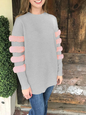 Long Sleeve Splice Sweater