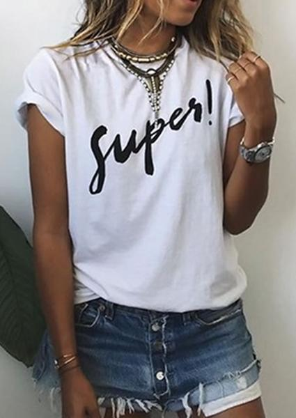 Printed Super Short Sleeve T-shirt