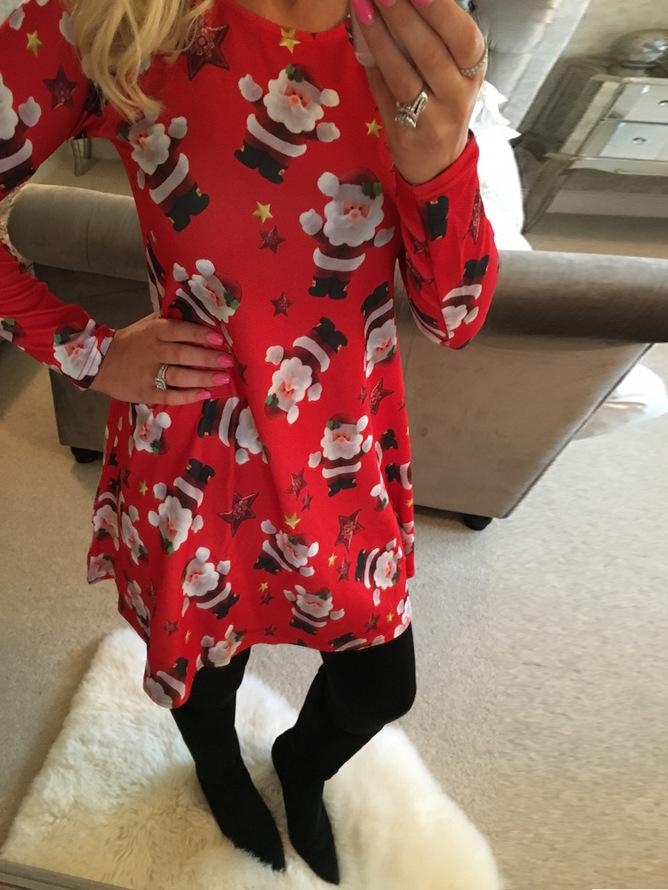 Santa Claus Christmas Swing Dress