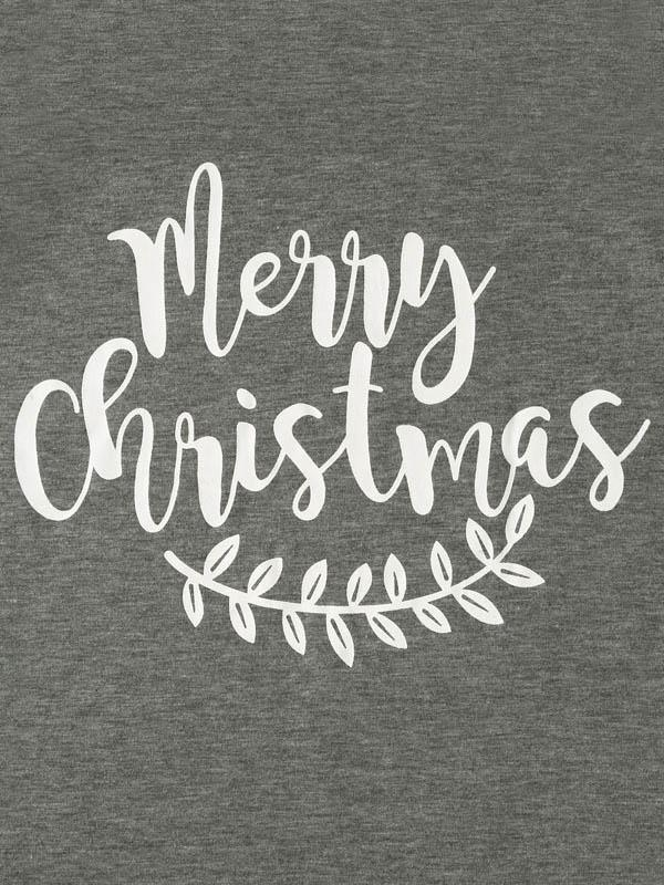 Merry Christmas Leaf Baseball T-Shirt