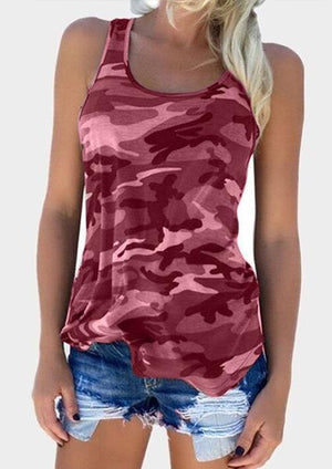 Camouflage Off Shoulder Tank