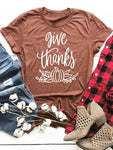 Give Thanks Letter T-shirt