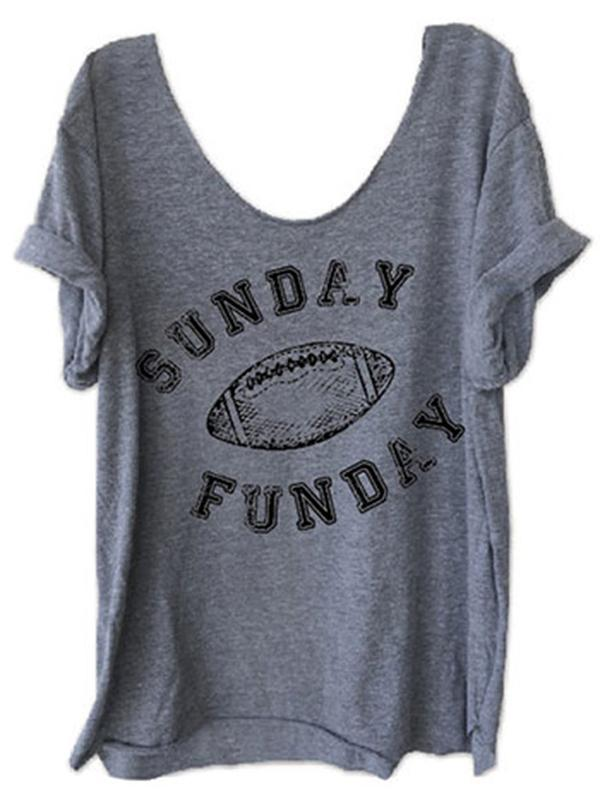 Sunday Funday Football O-Neck T-Shirt