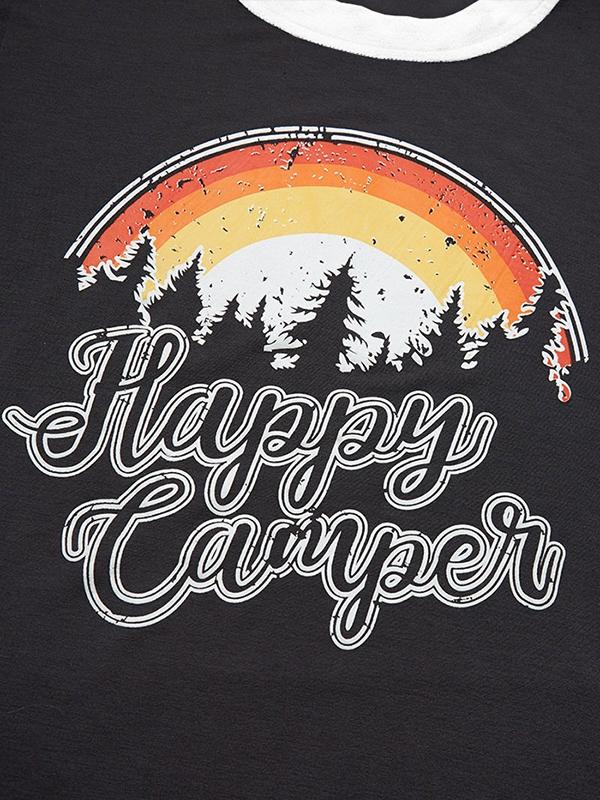 Happy Camper Rainbow T-Shirt without Necklace