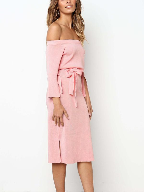 Solid Color Strapless Tunic Dress