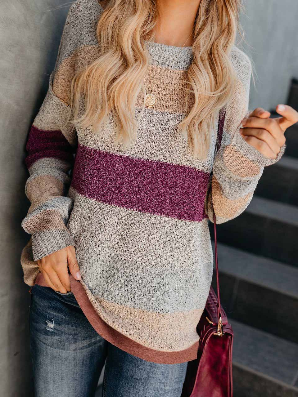 Loose Splice Long Sleeve Sweater