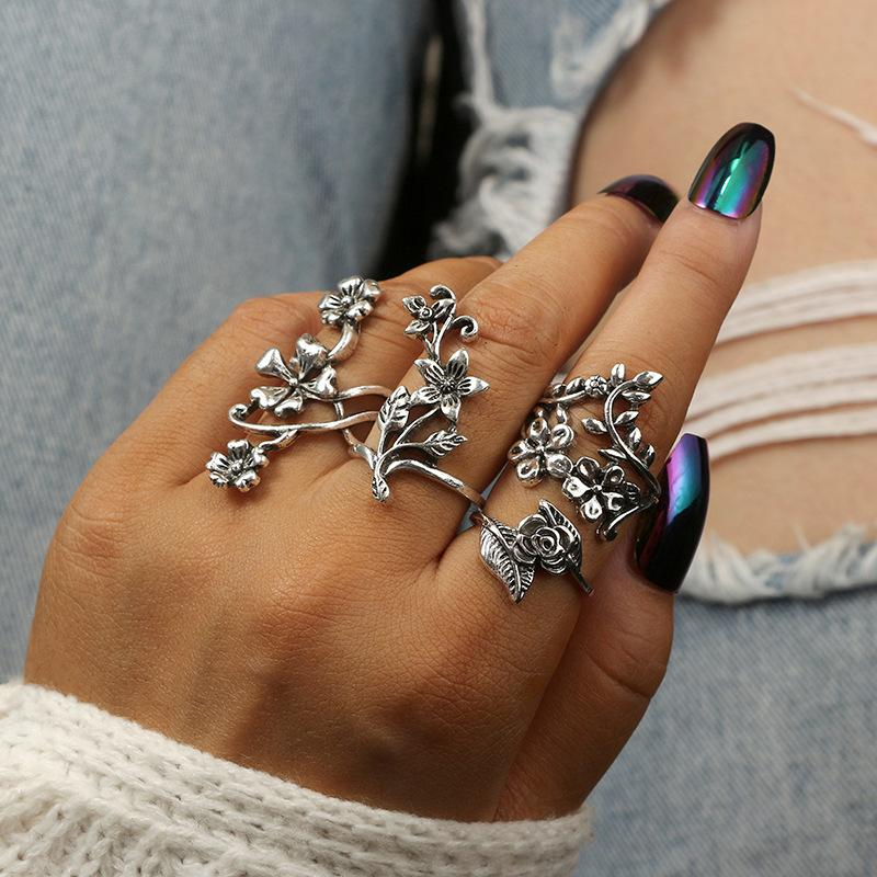Knuckle Rings, Silver Midi Rings for Women