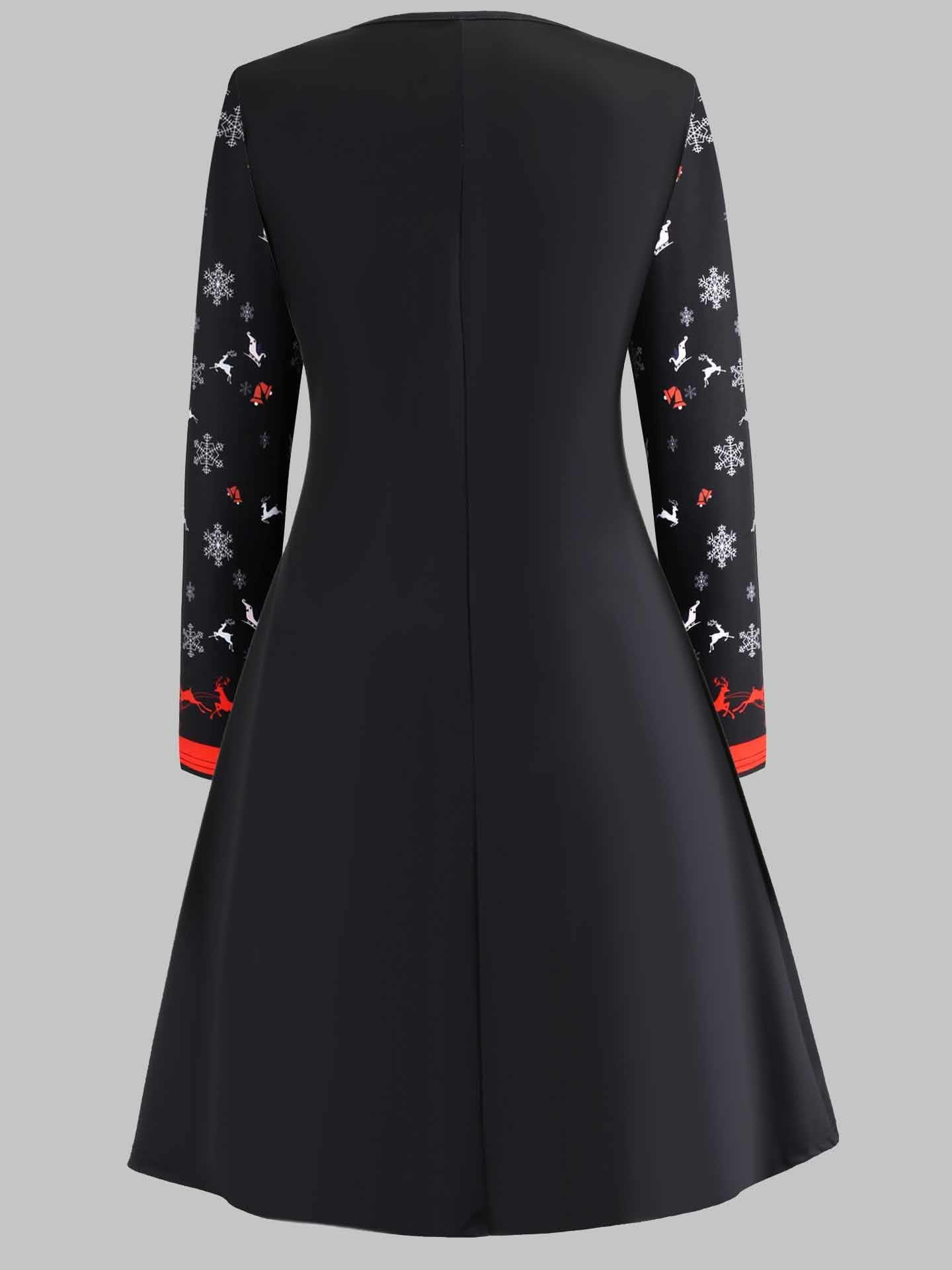 Long Sleeve Christmas Cocktail Dress