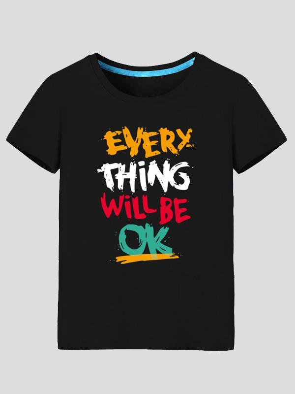 Everything Will Be Ok Cotton Short-Sleeved T-Shirt