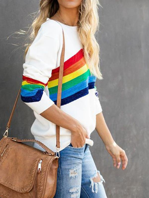 Rainbow Shimmer Knit Sweater