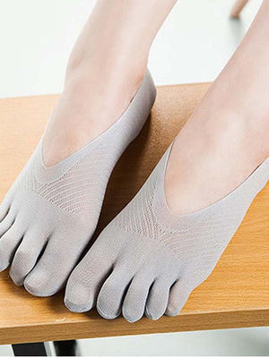 Five Fingers Ankle Solid Color Socks