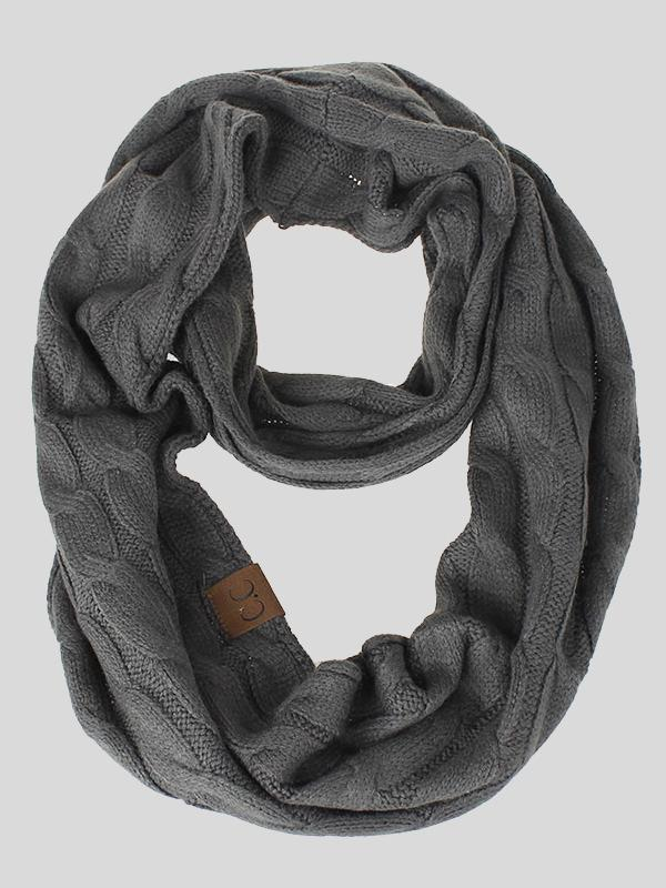 Solid Color Knitted Warm Scarf