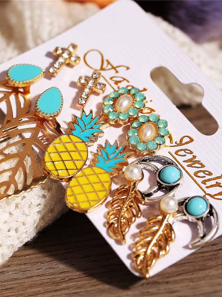 Pineapple Leaf Bohemia Stud Earring