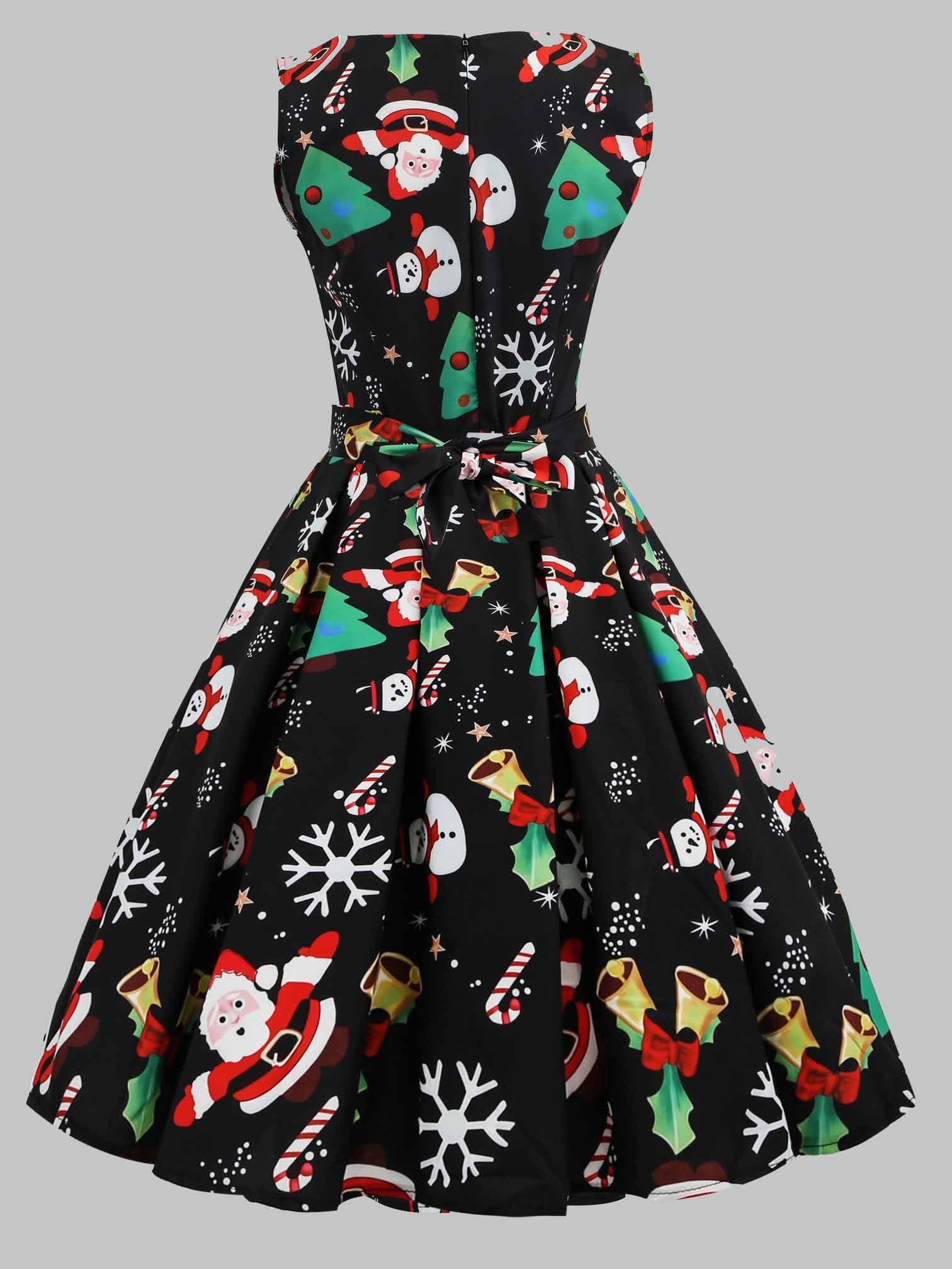 Sleeveless Christmas Fit and Flare Cocktail Dress