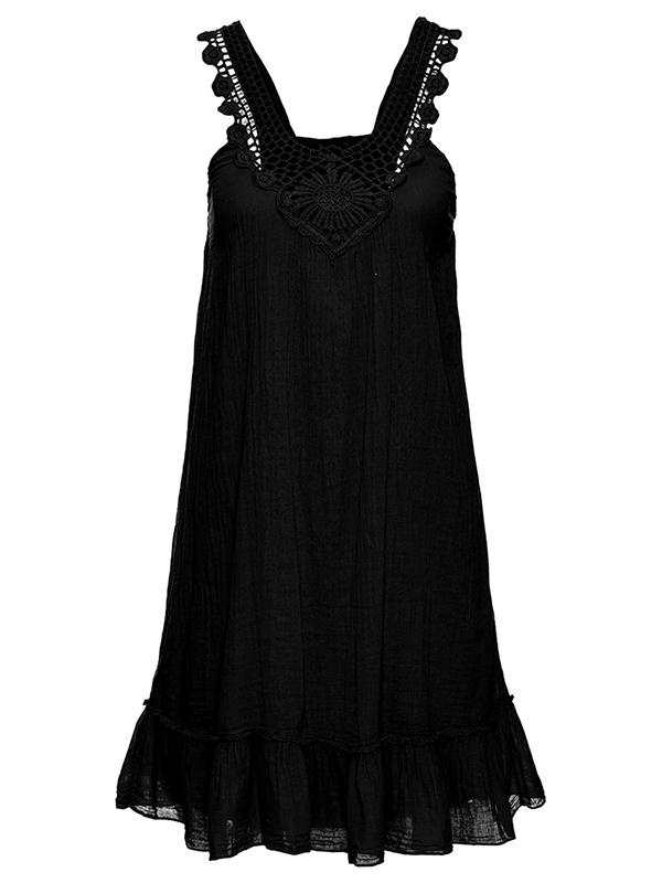 U-neck Lace Sleeveless Chiffon Bubble Dress